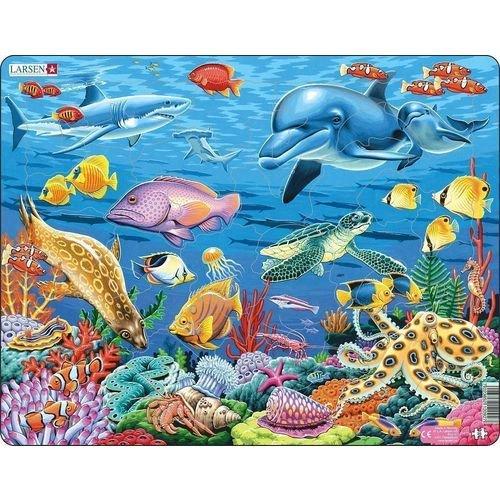 Купить Пазл Коралловый риф , 35 элементов, Larsen, Пазлы