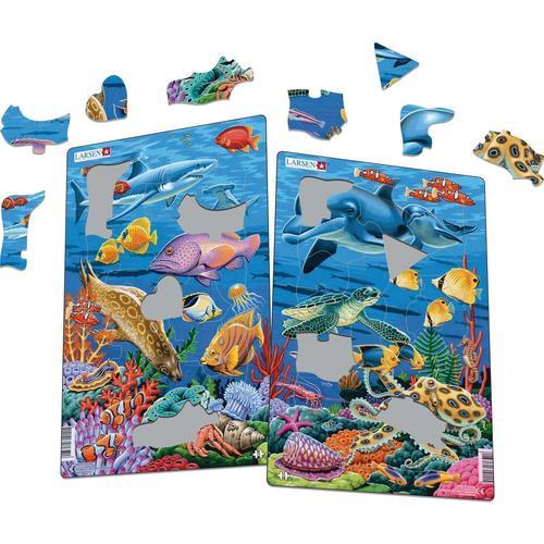 Купить Пазл Коралловый риф , 25 элементов, Larsen, Пазлы