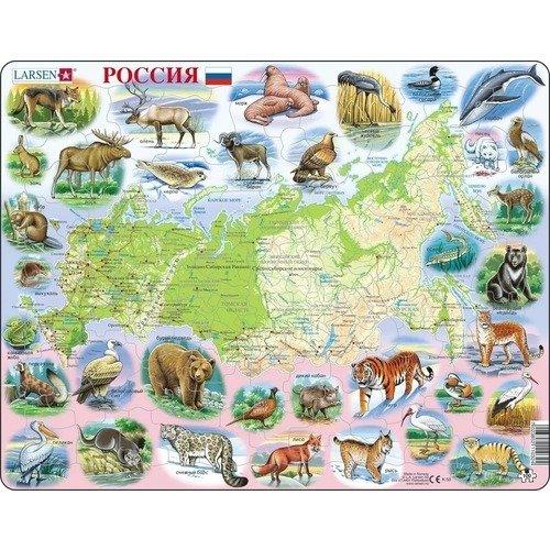 Купить Пазл Россия , 100 элементов, Larsen, Пазлы