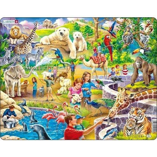 Купить Пазл Зоопарк , 48 элементов, Larsen, Пазлы