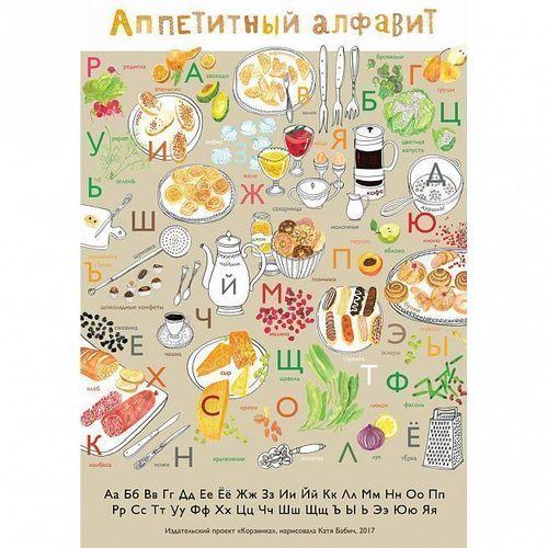 Плакат Аппетитный алфавит плакат аппетитный алфавит