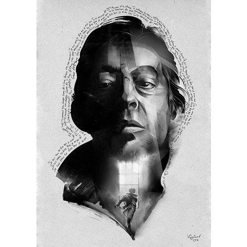 Принт Серж Генсбур А2 постер картина принт нимфа
