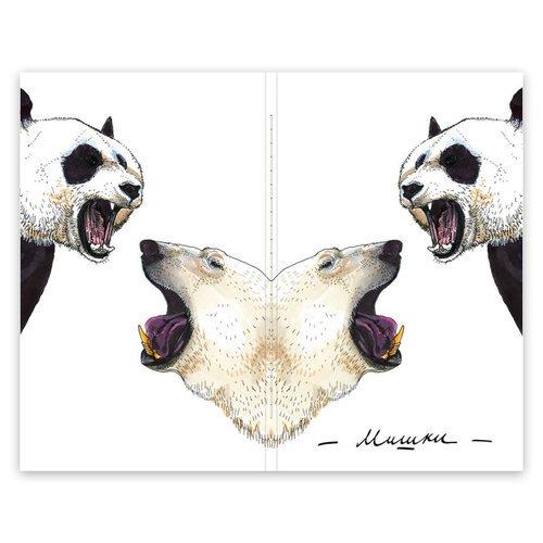 "Скетчбук ""Pocket Fox&Owl"" A6, 32 листа, 100 г/м2, мишки"