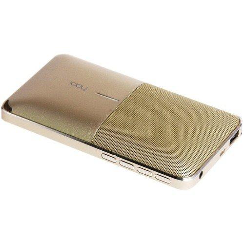Портативная колонка Flow Gold, 6000 мАч, золотистая inter step аккумулятор inter step power bank ирис li pol 6000 мач портативный