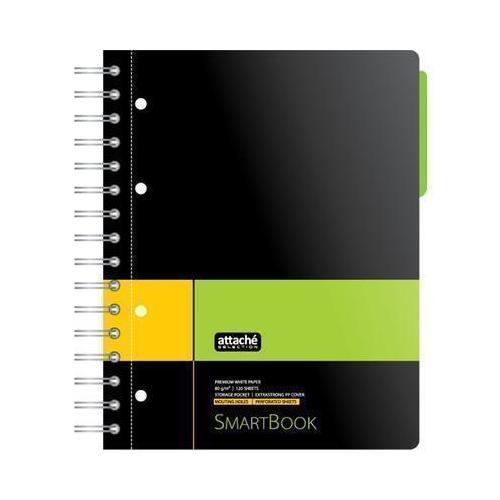 Бизнес-тетрадь Smartbook 83321 А5, 120 л, клетка, желто-зеленая тетрадь 24л а5 линейка комплект подписные издания tattoo
