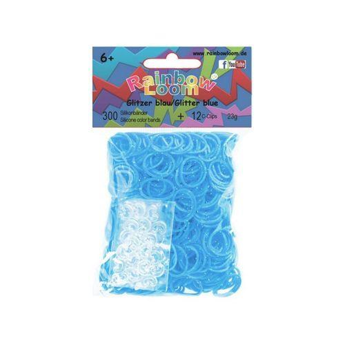 Резиночки для плетения силиконовые B0365, блестяще-голубые набор резиночки businka бабочка 700шт уп крючок бусины nr005