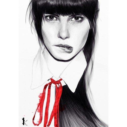 "Принт ""Red Ribbon"" А2"