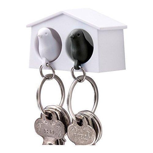 Держатель+брелок для ключей Mini Sparrow аксессуар qualy sparrow ql10118 bk black антилед