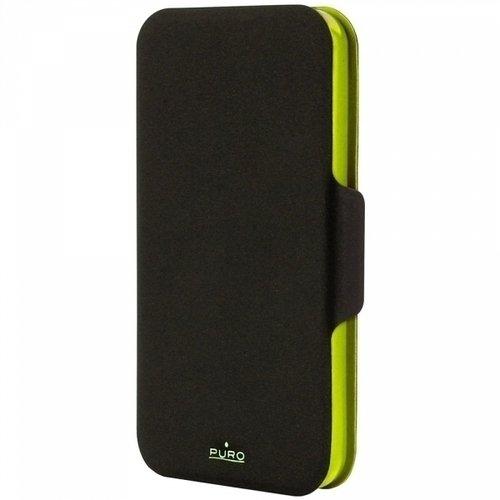 лучшая цена Чехол PURO для iPhone 5/5s черно-зеленый