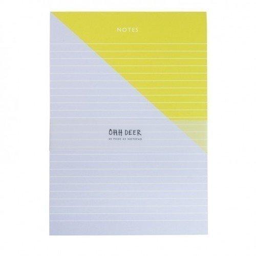 Блокнот Цветной блок А5, 40 листов, в линейку, желто-голубой блокнот цветной блок а4 40 листов крафт
