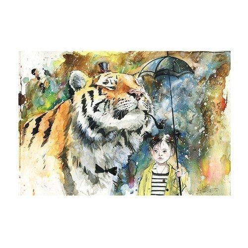 Принт Mr. Tiger А3 постер картина принт нимфа