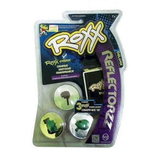Набор из 3 эксклюзивных фишек Roxx и 3 карточек Trixx игра напольная scullzz roxx