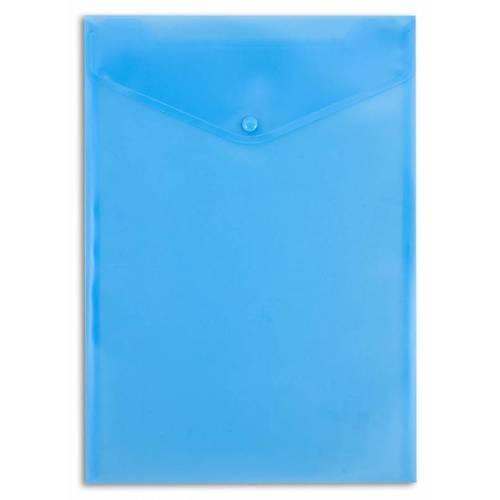 Конверт на кнопке PK875blu А4, 0,18 мм, синий конверт на кнопке а4 вертолет 4252006