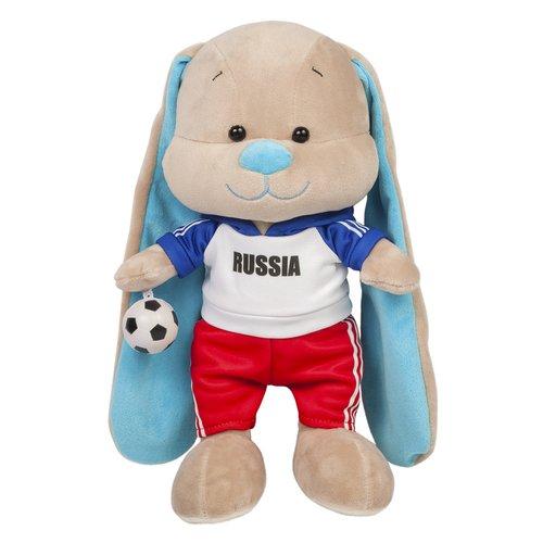 """Мягкая игрушка """"Зайчик Жак Футболист"""", 25 см мягкая игрушка jack lin зайчик жак в морском костюмчике искусственный мех бежевый 25 см"""