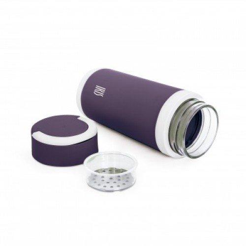 Термос стеклянный, 450 мл, лиловый бордюр стеклянный лиловый 2х50