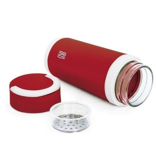 Фляжка стеклянная, 450 мл, красная фляжка бутылка с карабином 350 мл