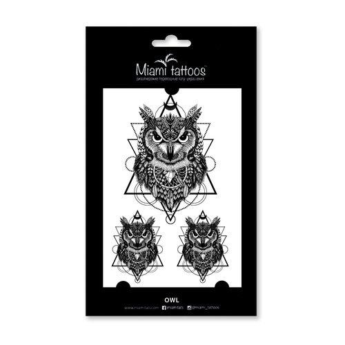 Татуировки переводные Owl конан меч на продажу