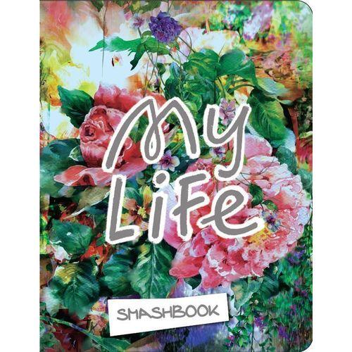 Блокнот с наклейками My life А5, 160 стр. смэшбук блокнот для творческих людей с наклейками а5 my life