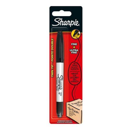 Маркер перманентный Sharpie Twin Tip женя маркер курсанты путь кзвёздам