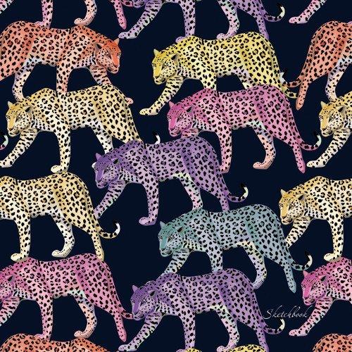 Фото - Скетчбук Акварельные леопарды, 80 листов, 100 г/м2, 19,5 х 19,5 см скетчбук 80 листов 120 г м2 15 х 15 см сине голубой