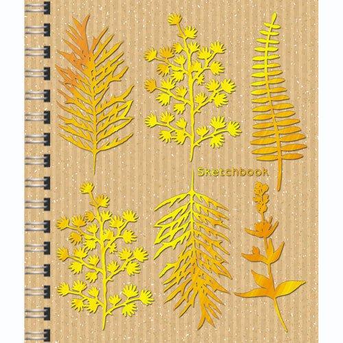 Скетчбук Золотой гербарий А6-, 80 листов, 100 г/м2 скетчбук взрыв эмоций графика а6 80 листов нелинованная
