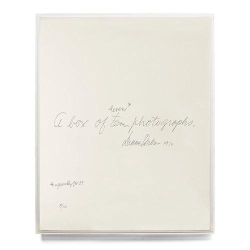 Diane Arbus: a Box of Ten Photographs дженнифер нидерст роббинс web дизайн справочник