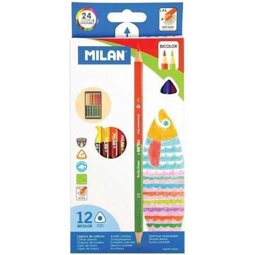 Карандаши двусторонние, 24 цвета carioca набор смываемых восковых карандашей baby 8 цветов