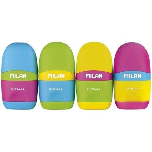"""Точилка пластиковая с ластиком Milan """"Capsule Mix"""" все цены"""