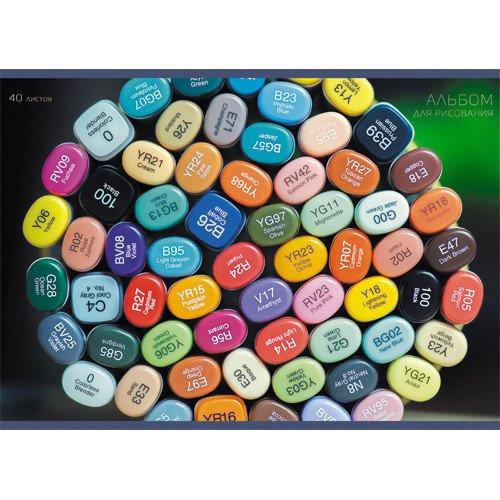 Альбом для рисования Цветовая палитра альбом для рисования чудо дерево 20 листов 110 г м2
