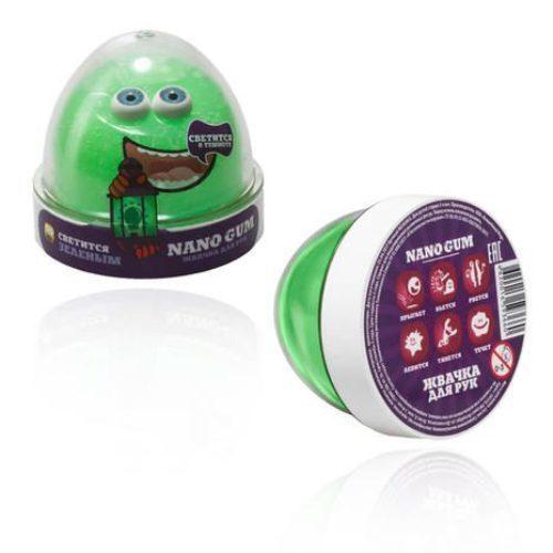 """Жвачка для рук """"Nano Gum"""", зеленое свечение, 50 г"""