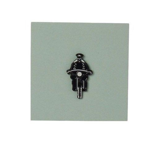 значок есенин бронза Значок металлический Мотоциклист