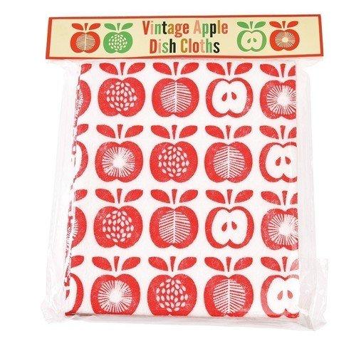 Набор кухонных салфеток Винтажные Apple, 4 шт. набор кухонных салфеток karna maron 30 х 50 см 2 шт 718 char003