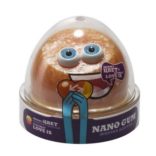 Жвачка для рук Nano gum, оранжево-желтая с ароматом Love is, 50 г волшебный мир жвачка для рук nano gum аромат банана
