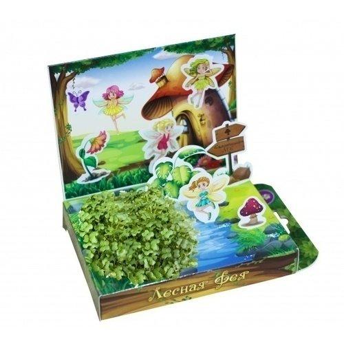 Набор для выращивания Живая открытка - Лесная Фея набор подарочный для выращивания happy plants живая открытка лето в кармане