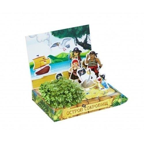 Набор для выращивания Живая открытка - Остров сокровищ набор подарочный для выращивания happy plants живая открытка лето в кармане