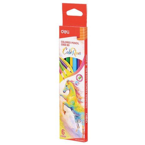 """Цветные карандаши """"ColoRun"""" EC00360, 6 цветов"""