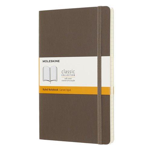"""Блокнот линованный """"Classic Soft"""" Large, 192 листа, в линейку, коричневый"""