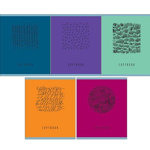 Тетрадь Серебряные штрихи А5, 96 листов, в клетку тетрадь эксмо серия краски мегаполиса а5 96 листов клетка обложка мелованный картон
