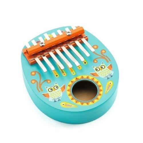 Калимба детский музыкальный инструмент djeco металлофон кот 06002