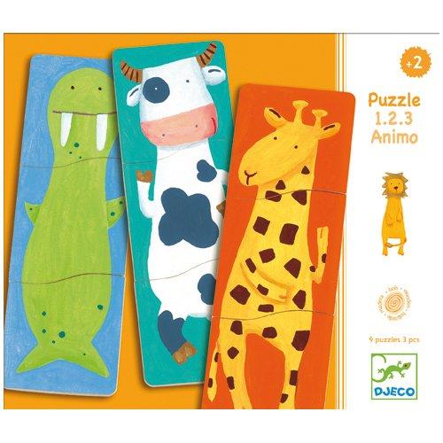Пазл Забавные животные, 27 элементов деревянные игрушки djeco пазл забавные животные