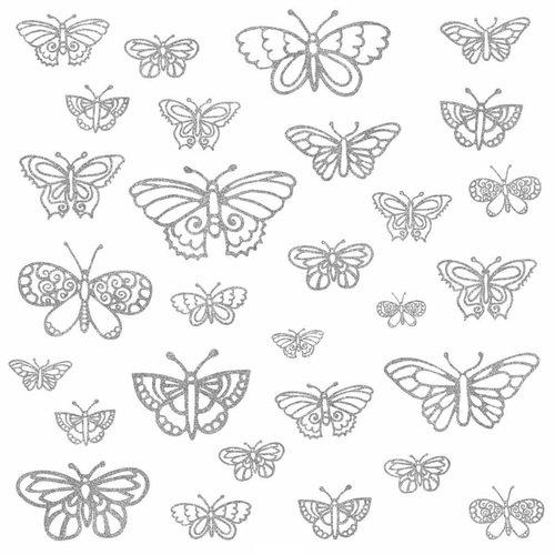 """Наклейки для декора """"Мерцающие бабочки"""" цены"""