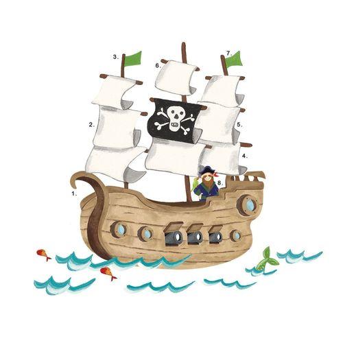 """Наклейки для декора """"Пиратский корабль"""" цены"""