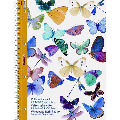 Тетрадь Колледж Бабочки А4, 80 листов, в линейку еж стайл тетрадь a little sleep любовь в линейку 38 листов