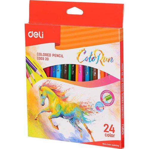 Карандаши цветные Deli ColoRun цветные карандаши colorun ec00360 6 цветов