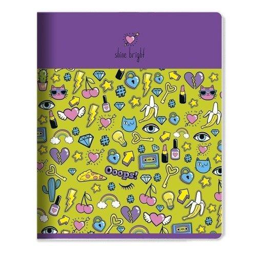 Фото - Тетрадь Stickers, 48 листов, в клетку, 16,5 х 20,3 см, сиреневая тетрадь magic lines пантон 80 листов в клетку