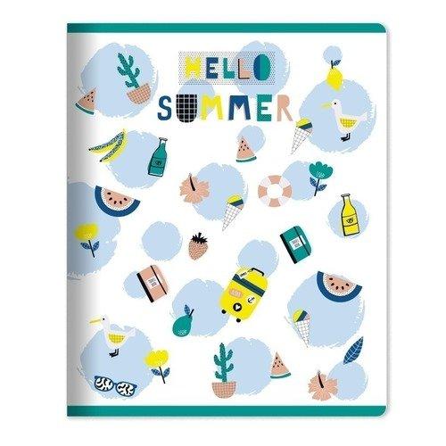 Фото - Тетрадь Summer, 48 листов, в клетку, 16,5 х 20,3 см тетрадь magic lines пантон 80 листов в клетку