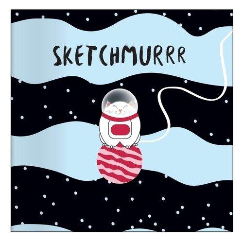 """Альбом для рисования """"Mur-mur. Космонавт"""", 40 листов, 120 г/м2, 17 х 17 см"""