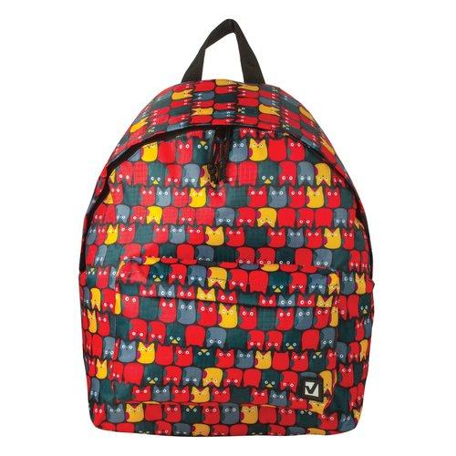 """Городской рюкзак """"Совята"""", 20 л, 41 х 32 х 14 cм, красный цена в Москве и Питере"""
