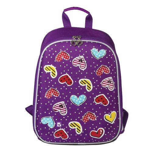 Ранец для начальной школы Сердечки, 34 х 26 х 12 см ранец для начальной школы миднайт жесткий каркас 34 х 26 х 12 см