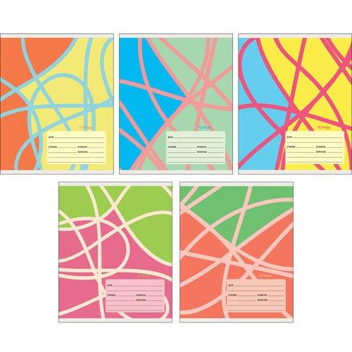 Тетрадь Цветные ленты А5, 18 листов в линейку, в ассортименте еж стайл тетрадь a little sleep любовь в линейку 38 листов